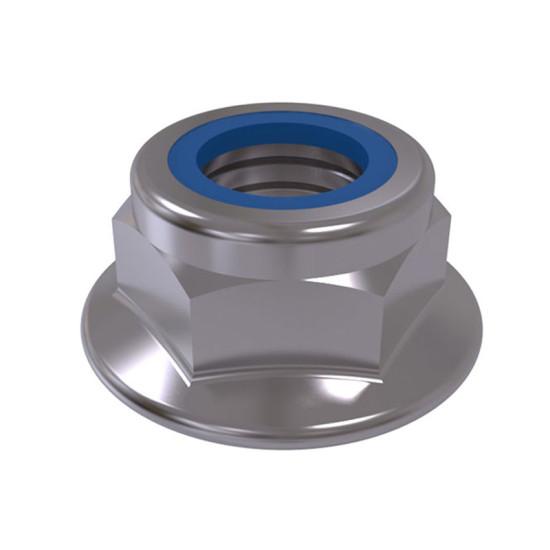 ISO 7043 Гайка самоконтрящаяся с нейлоновым кольцом и с фланцем