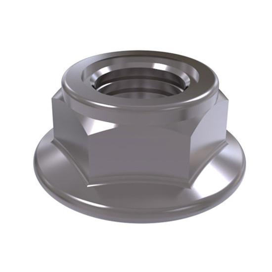 ISO 7044 Гайка стальная самоконтрящаяся с фланцем