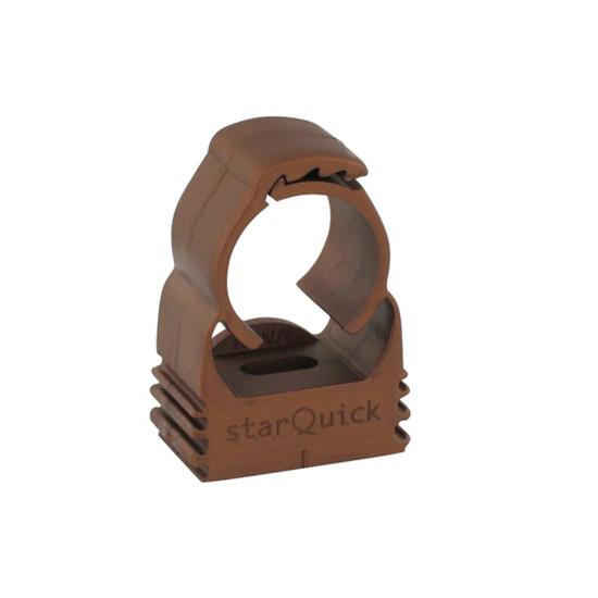 BIS starQuick  Хомуты — медного цвета для сантехнических труб и труб с электрокабелями для крепления стене, полу или потолку