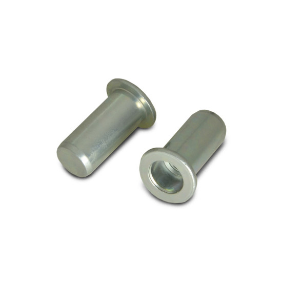 Заклепка с внутренней резьбой цилиндрический бортик закрытая